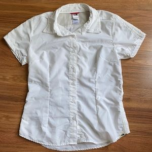 The North Face Vapor Wick ivory button down shirt